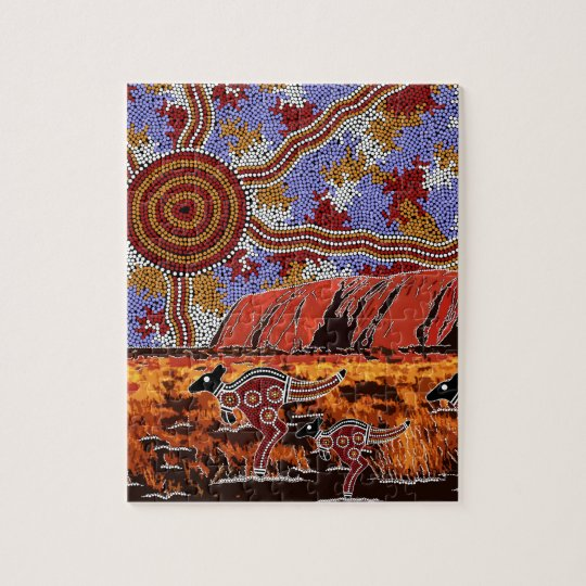 Uluru - Authentic Aboriginal Art Jigsaw Puzzle