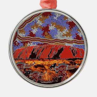 Uluru - Authentic Aboriginal Art Metal Ornament