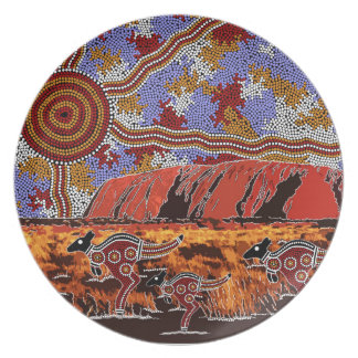 Uluru - Authentic Aboriginal Art Plate