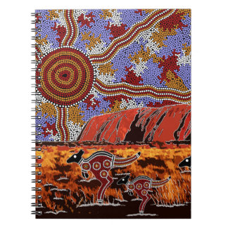 Uluru - Authentic Aboriginal Art Spiral Notebook