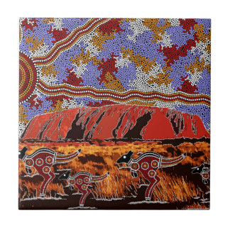 Uluru - Authentic Aboriginal Art Tile