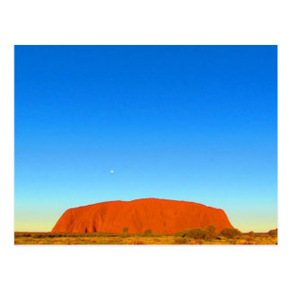 uluru blue sunset postcard