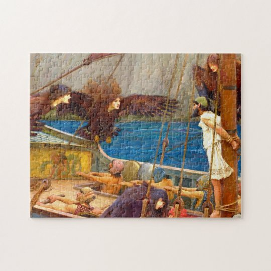 Ulysses and the Sirens by J. W. Waterhouse Jigsaw Puzzle