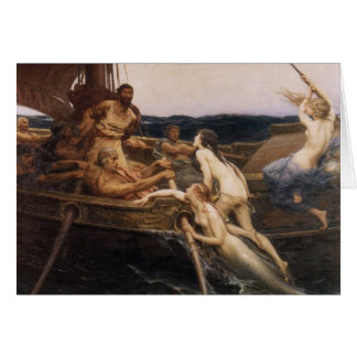 Ulysses and the Sirens Card