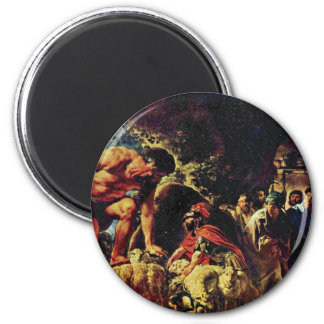 Ulysses In The Cave Of Polyphemus By Jordaens Jaco Magnet