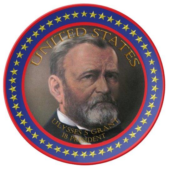 Ulysses S Grant 18th President Porcelain Plate