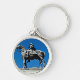 Ulysses S Grant Silver-Colored Round Keychain