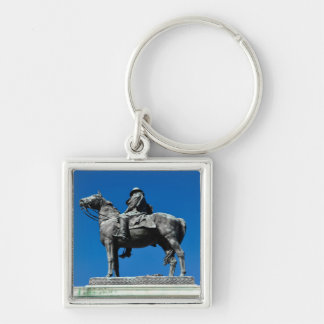 Ulysses S Grant Silver-Colored Square Keychain