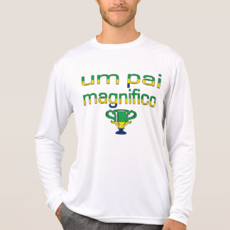 Um Pai Magnifico Brazil Flag Colors T-Shirt