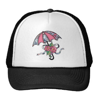 Umberlla with Roses 17 Trucker Hat