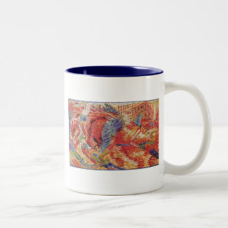 Umberto Boccioni - The city rises Two-Tone Coffee Mug