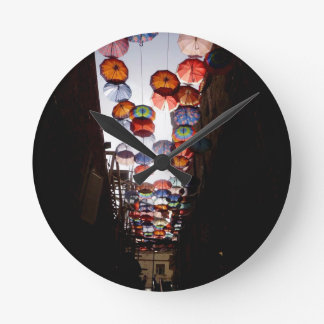 Umbrella Alley Wall Clocks
