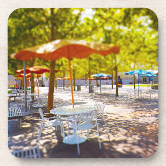 Umbrella and Chairs, Courtyard, Crown Center, KC Coaster