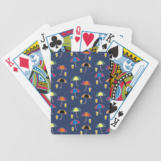 UMBRELLA AND DRINK BICYCLE PLAYING CARDS