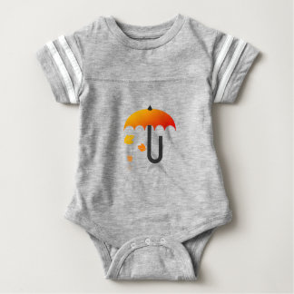 Umbrella and leaves baby bodysuit