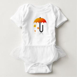 Umbrella and leaves baby bodysuit