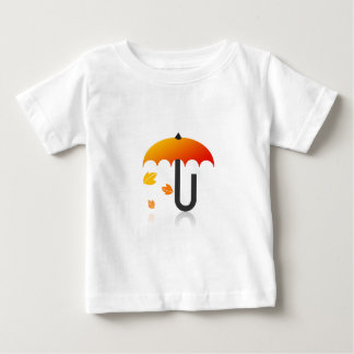Umbrella and leaves baby T-Shirt