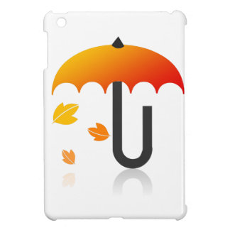 Umbrella and leaves iPad mini cases