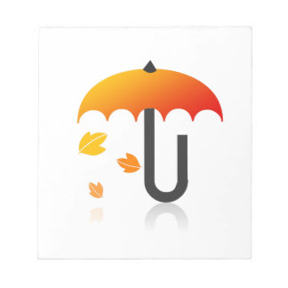 Umbrella and leaves notepad