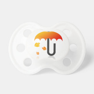 Umbrella and leaves pacifier