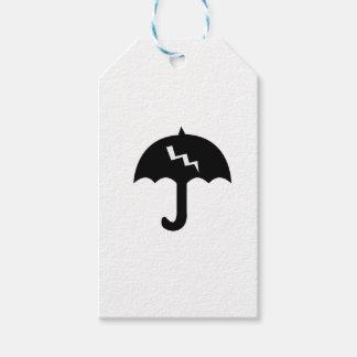 umbrella and  lighting gift tags