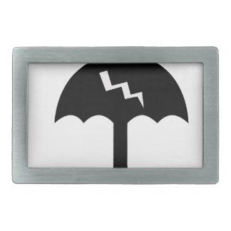 umbrella and  lighting rectangular belt buckle