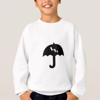 umbrella and  lighting sweatshirt