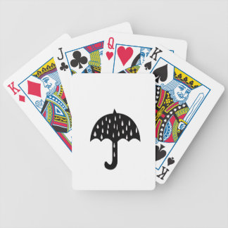 Umbrella and raining bicycle playing cards