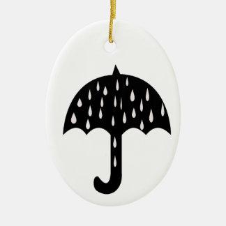 Umbrella and raining ceramic ornament
