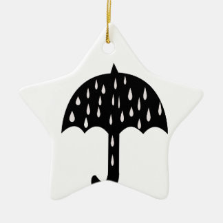Umbrella and raining ceramic ornament