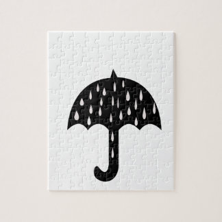 Umbrella and raining jigsaw puzzle