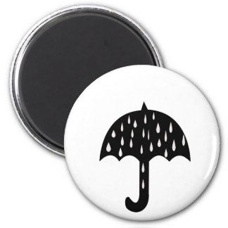 Umbrella and raining magnet