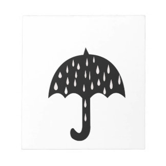 Umbrella and raining notepad