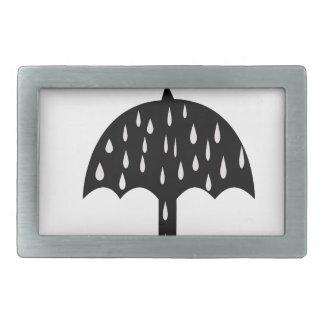 Umbrella and raining rectangular belt buckle
