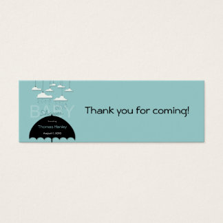 Umbrella Baby Shower Favor Tag