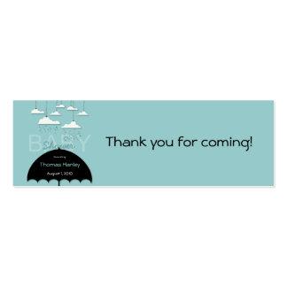 Umbrella Baby Shower Favor Tag Mini Business Card
