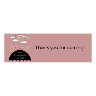 Umbrella Baby Shower Favor Tag Pack Of Skinny Business Cards