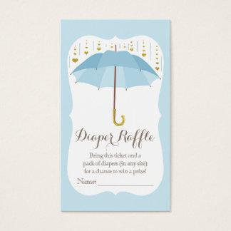 Umbrella Baby Sprinkle Blue Diaper Raffle Ticket
