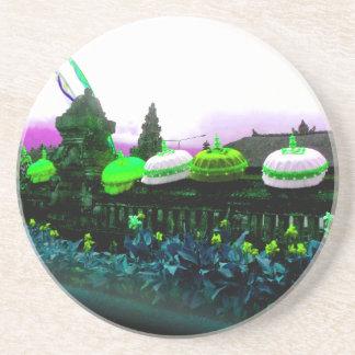 Umbrella Bali Colour Splash Lime Coaster