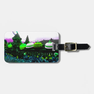 Umbrella Bali Colour Splash Lime Luggage Tag