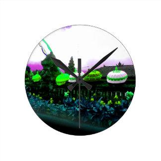 Umbrella Bali Colour Splash Lime Round Clock
