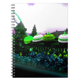 Umbrella Bali Colour Splash Lime Spiral Notebook