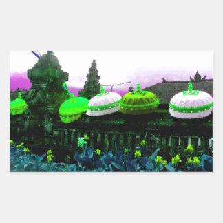 Umbrella Bali Colour Splash Lime Sticker
