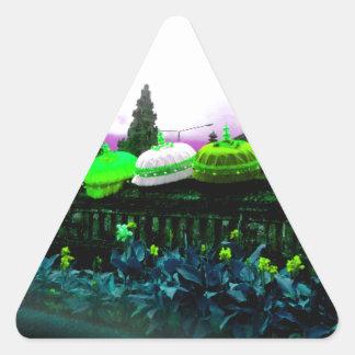 Umbrella Bali Colour Splash Lime Triangle Sticker