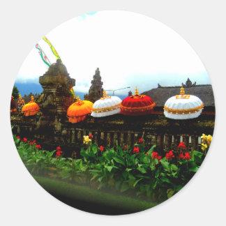 Umbrella Bali Splash Orginal Classic Round Sticker