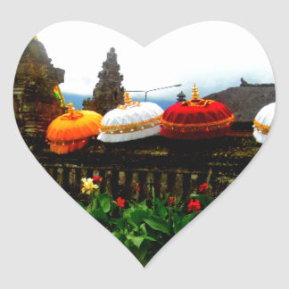 Umbrella Bali Splash Orginal Heart Sticker
