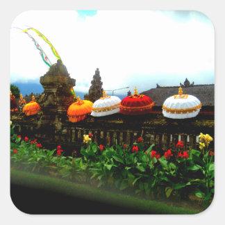 Umbrella Bali Splash Orginal Square Sticker