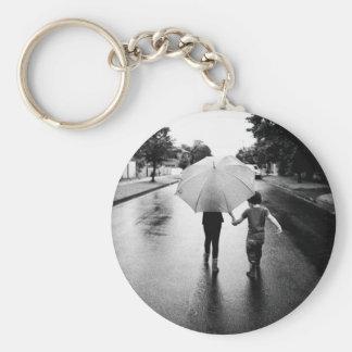 umbrella basic round button keychain