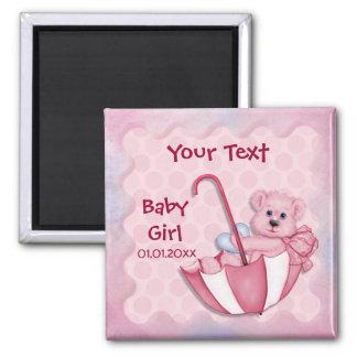 Umbrella Bear - Customize - Girl Magnet