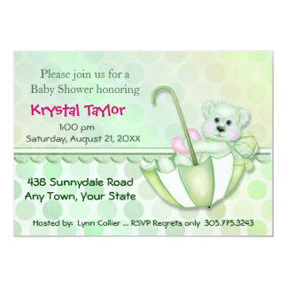 Umbrella Bear Mint - Invitation